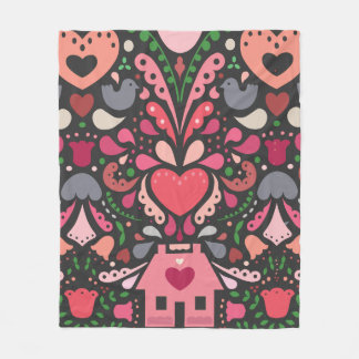 Bursting at the Seams with Love Fleece Blanket