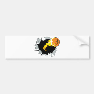 bursting bball bumper sticker