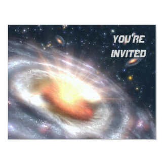 Bursting Black Hole 4.25x5.5 Paper Invitation Card