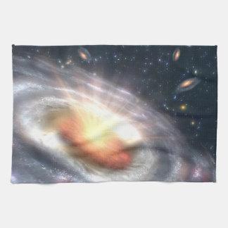 Bursting Black Hole Kitchen Towels