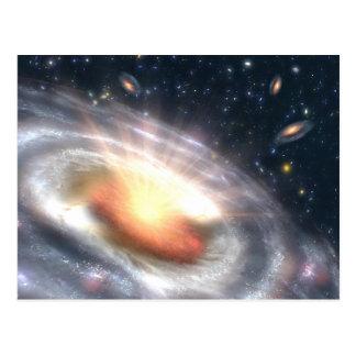 Bursting Black Hole Postcard
