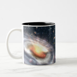 Bursting Black Hole Two-Tone Coffee Mug