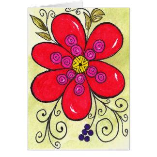 Bursting Bloom Card