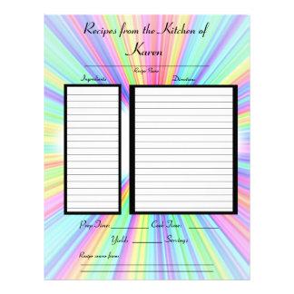 Bursting Colors Recipe page