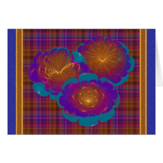 Bursting Flowers Abstract Art Greeting Cards