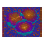 Bursting Flowers Abstract Art Post Cards