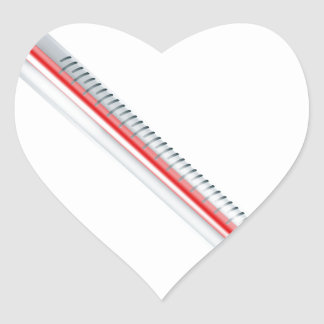 Bursting hot thermometer heart stickers