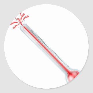Bursting hot thermometer stickers