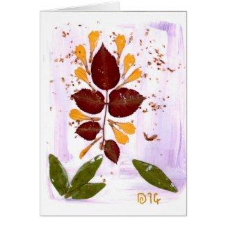 Bursting Into Life custom artsy note greeting card