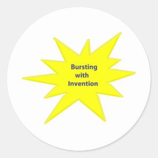 Bursting Invention Stickers