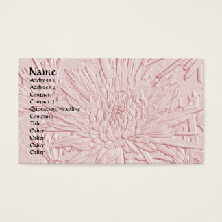 Bursting Joy/ Embossed-Like Floral Design Business Card