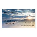 Bursting Mountain Sunrise Sunbeam Business Card