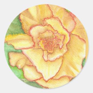 Bursting Petals Classic Round Sticker