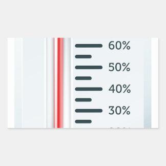 Bursting Thermometer Rectangle Sticker