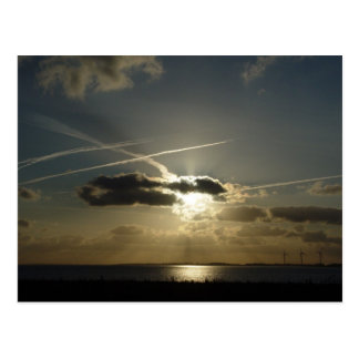 Bursting White Sunset Postcard