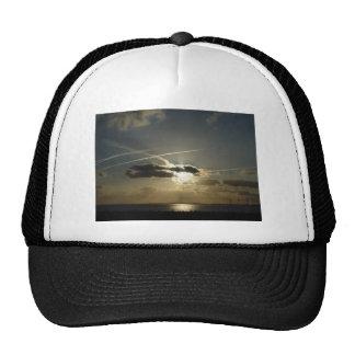 Bursting White Sunset Trucker Hat