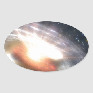 Bursting with Stars and Black Holes Oval Sticker