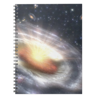 Bursting with Stars and Black Holes Spiral Notebook