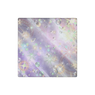 Bursts of Pain & Bubbles of Hope Stone Magnet