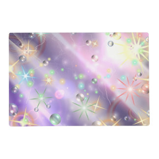 Bursts of Pain & Bubbles of Hope Laminated Placemat