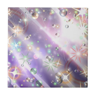 Bursts of Pain & Bubbles of Hope Small Square Tile