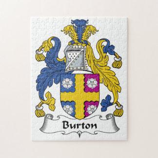 Burton Family Crest Puzzle