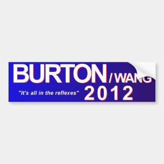 Burton/pegatina para el parachoques 2012 de Wang Pegatina De Parachoque