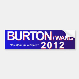Burton/pegatina para el parachoques 2012 de Wang Pegatina Para Auto