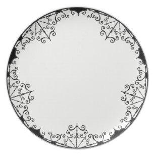 Burtonesque Victorian Gothic Style #1 Plate  sc 1 st  Zazzle & Victorian Style Plates | Zazzle