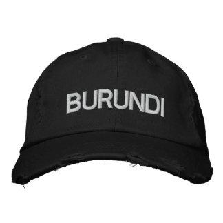 Burundi africa embroidered hat