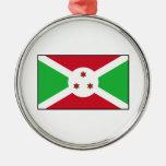 Burundi - bandera burundesa adorno para reyes