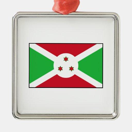 Burundi - bandera burundesa ornamentos de reyes magos
