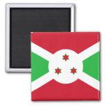 Burundi - bandera burundesa imanes para frigoríficos