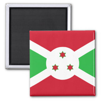 Burundi - bandera burundesa imán cuadrado