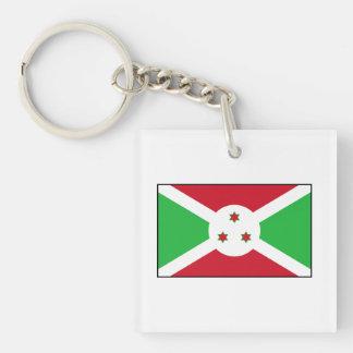 Burundi - bandera burundesa llavero cuadrado acrílico a doble cara