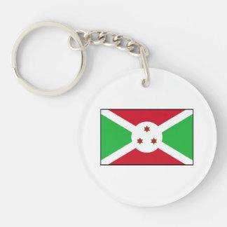 Burundi - bandera burundesa llavero redondo acrílico a doble cara