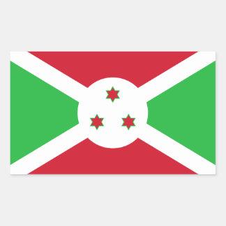 Burundi/bandera burundesa pegatina rectangular
