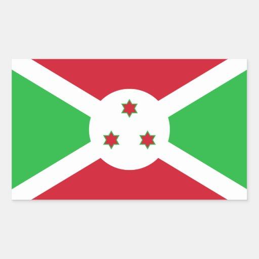Burundi/Burundian Flag Rectangular Stickers