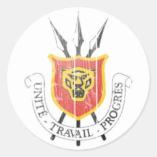 Burundi Coat Of Arms Classic Round Sticker