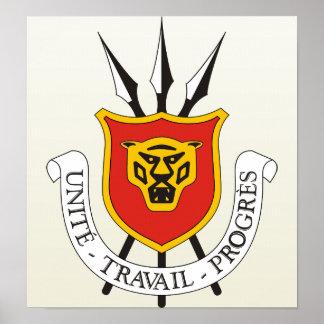 Burundi Coat of Arms detail Posters
