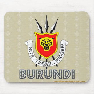 Burundi Coat of Arms Mouse Pads