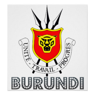 Burundi Coat of Arms Poster