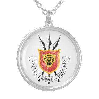 Burundi Coat Of Arms Round Pendant Necklace