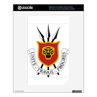 Burundi Coat of Arms Skin For The NOOK Color