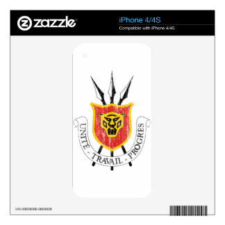 Burundi Coat Of Arms Decals For iPhone 4S