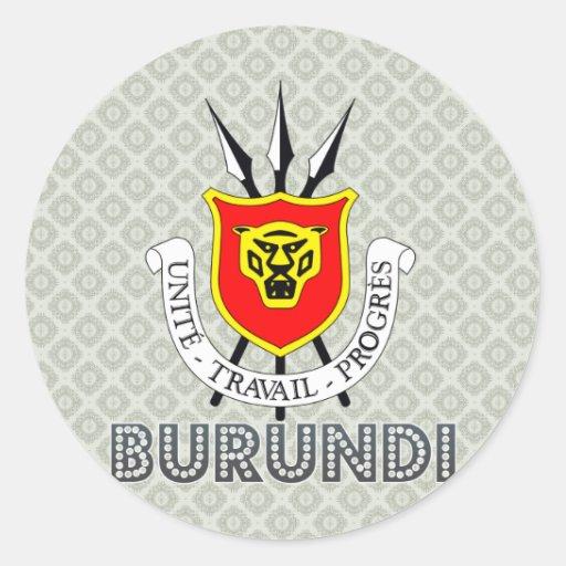 Burundi Coat of Arms Round Sticker
