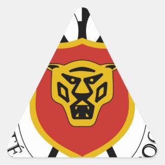 Burundi Coat of Arms Triangle Sticker