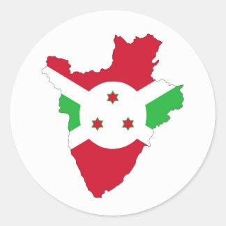 burundi country flag map shape silhouette symbol classic round sticker