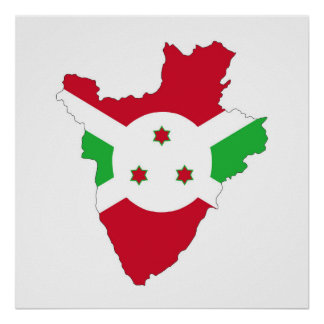 burundi country flag map shape silhouette symbol poster