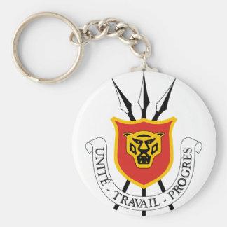 burundi emblem basic round button keychain